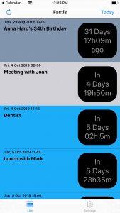 Fastis Calendar App